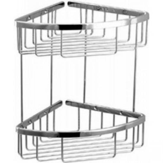 Aquabrass - Two Tier Triangular Basket - Polished Chrome