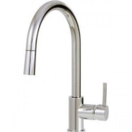 Aquabrass - Studio - Pull-Down Single Mode Kitchen Faucet - Polished Chrome