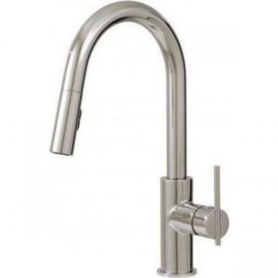 Aquabrass - Quinoa - Pull-Down Dual Stream Kitchen Faucet - Polished Chrome