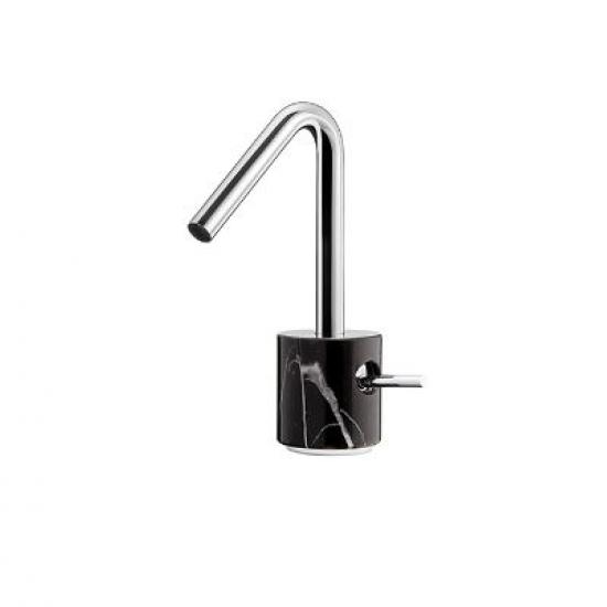 Aquabrass - Marmo - Single-Hole Lavatory Faucet - Black Marquina ...