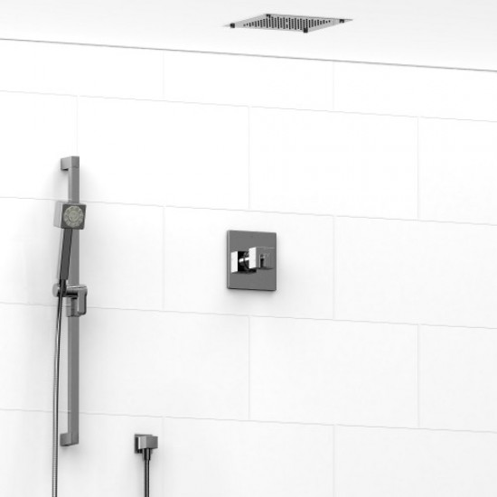 Riobel - Premium - Thermostatic / Pressure Balance ½'' Coaxial 2-Way System with Hand Shower and Shower Head - Polished Chrome