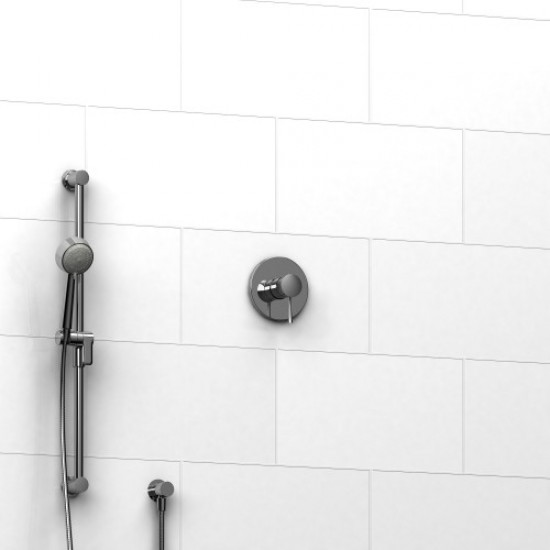 Riobel   Edge   Pressure Balance Shower Valve With Hand Shower   Polished  Chrome