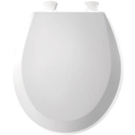 Bemis Round Molded Wood Toilet Seat With Easy Clean